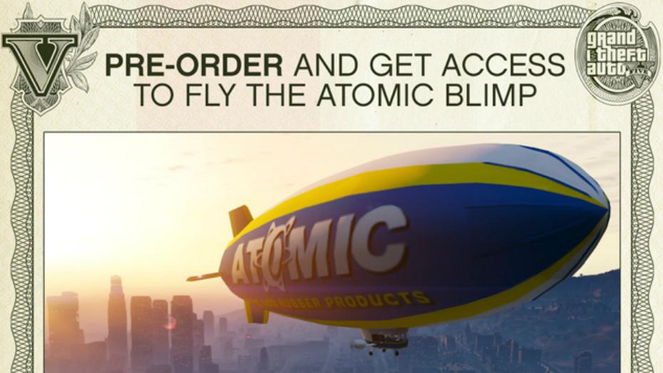 GTA 5 pre-order bonus: Atomic Blimp