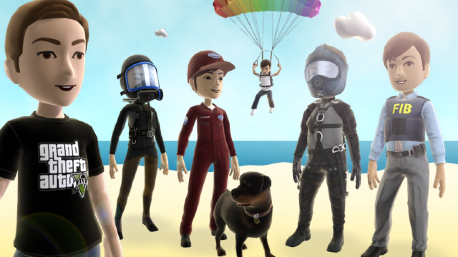 GTA 5: Xbox Live karakters en PlayStation avatars