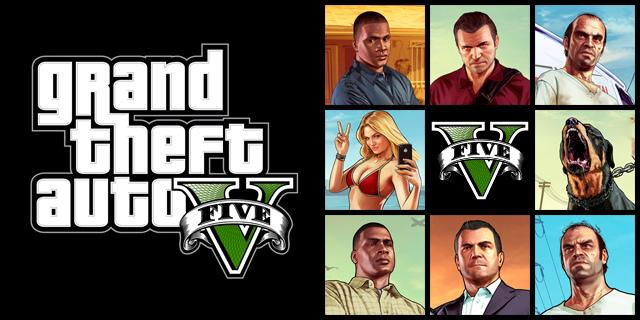 PlayStation 3 GTA 5 karakters met Michael, Trevis en Franklin
