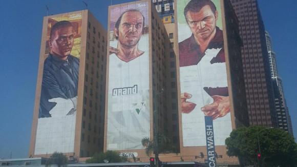 GTA V muurtekening Figeroa Hotel, Los Angeles
