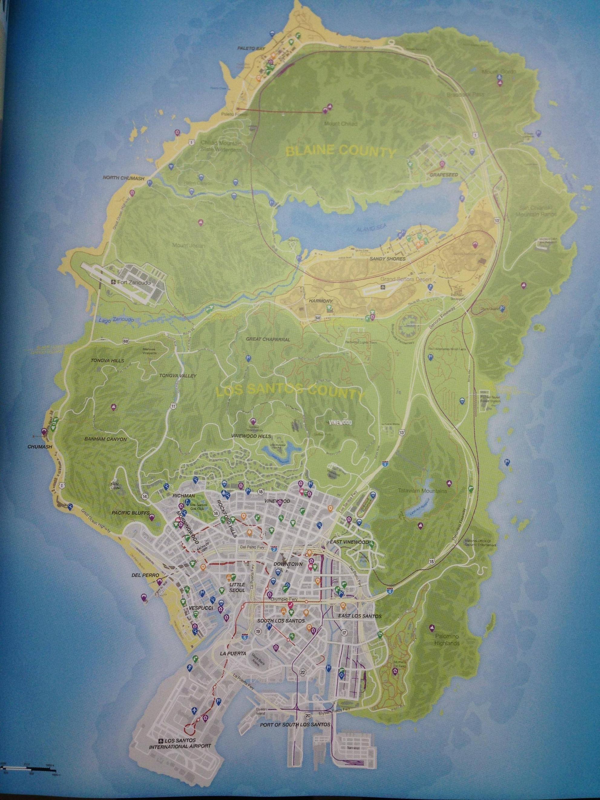 GTA 5 map uitgelekt! Wij hebben hem hier voor je!