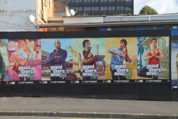 Posters GTA 5 onthullen nieuwe personages