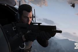 GTA 5: Screenshot 4 - Michael in Helikopter