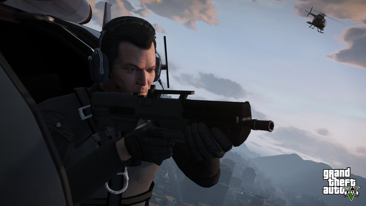 GTA 5: Screenshot 4 - Michael in Helikopter