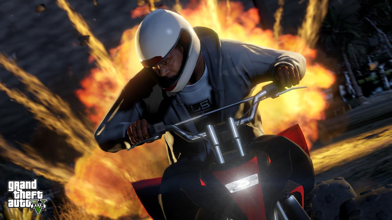 GTA 5: Screenshot 5 - Quad en explosie