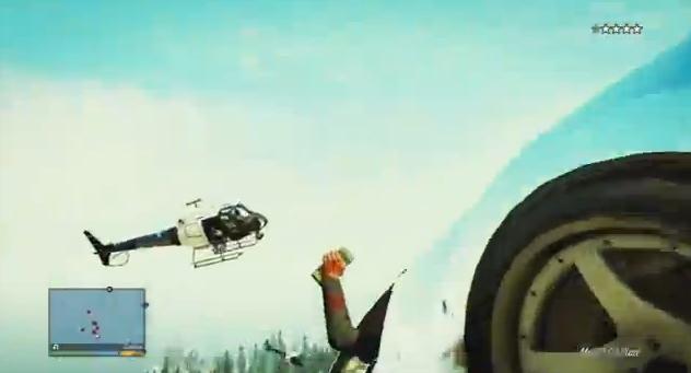 Vette achtervolging in de bergen GTA V